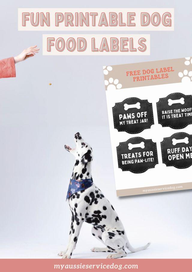 free printable dog treat labels