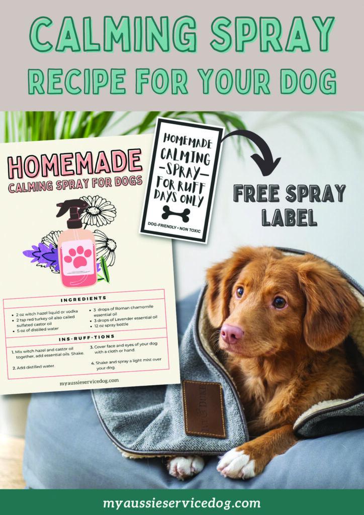 how to make dog calming spray