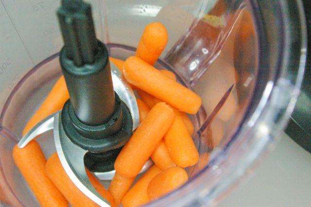 carrot dog treats in the blender