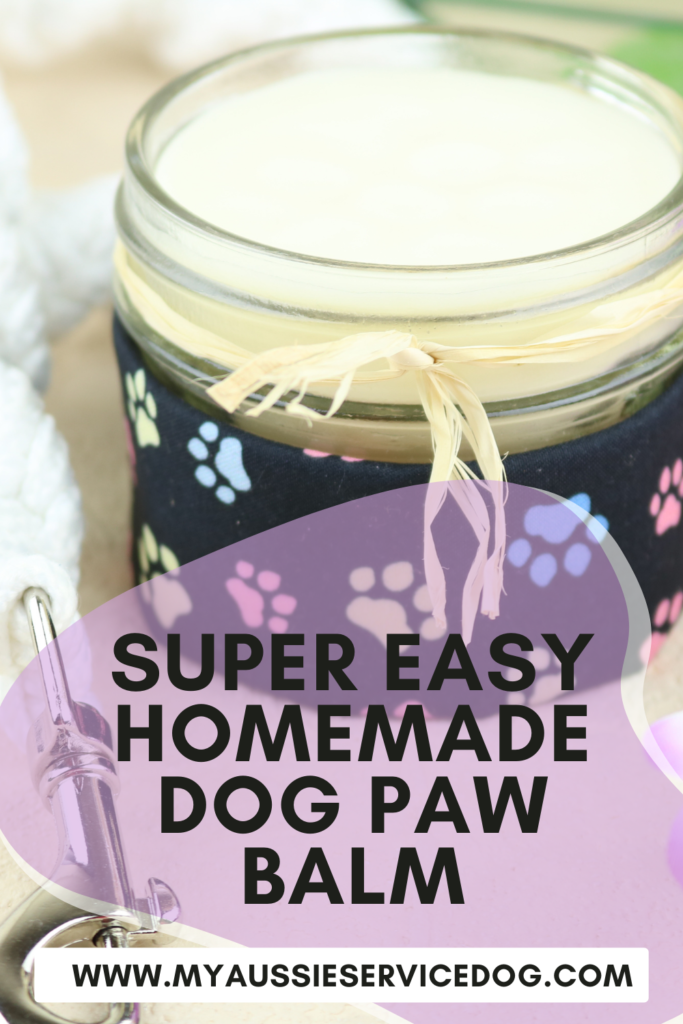 Super Easy Homemade Dog Paw Balm