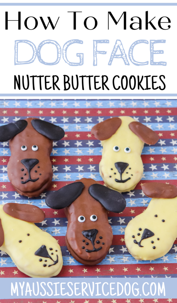 Dog face cookies for hoomans