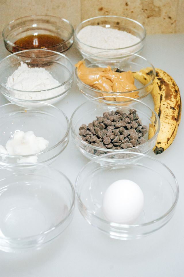 Peanut Butter Banana Pupcakes Ingredients