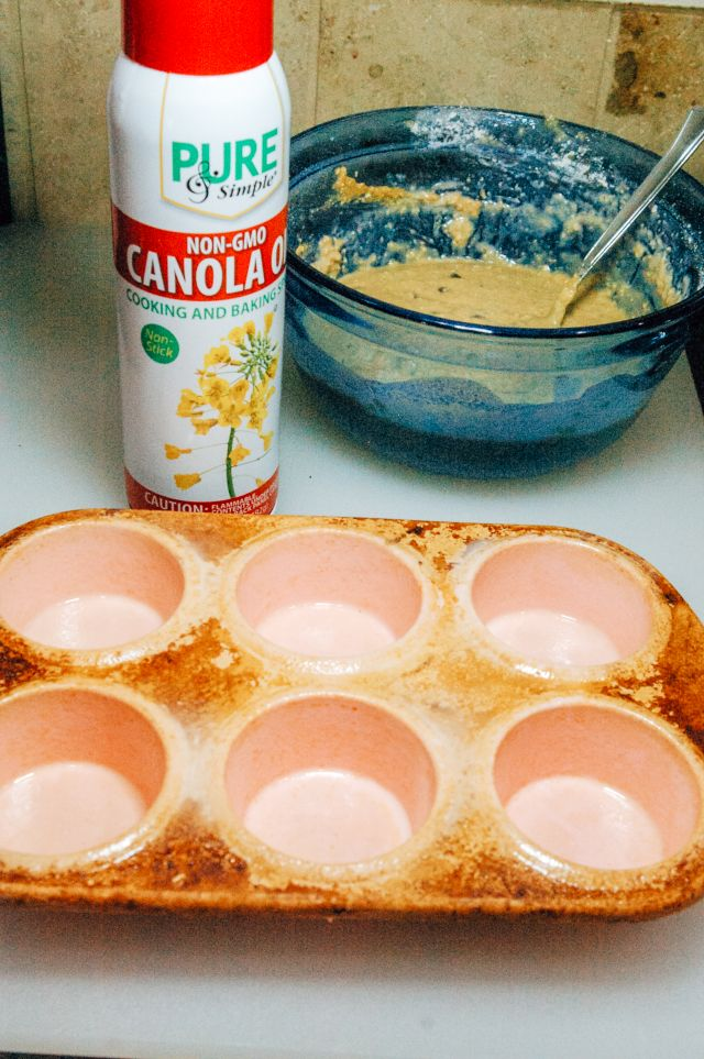 prepare the muffin tins