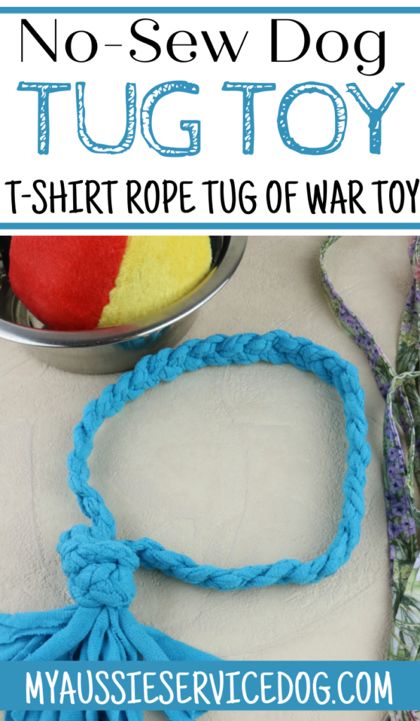 DIY dog tug toy No-Sew T-Shirt Rope Dog Toy