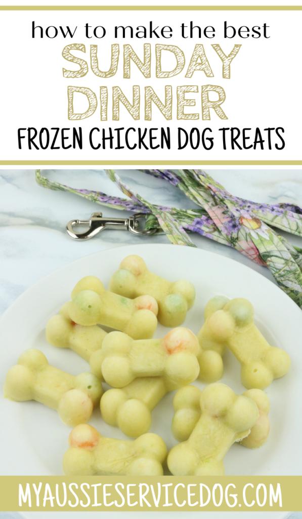 Frozen Chicken Dog Treats