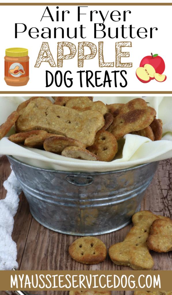 Air Fryer Peanut Butter Apple Dog Treats